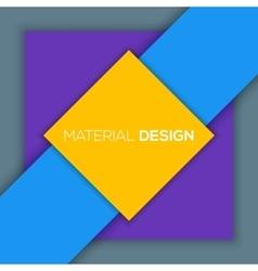 Modern unusual modern material design vector image