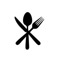 sticker contour cutlery icon vector image vector image