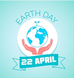 22 April Earth Day vector image
