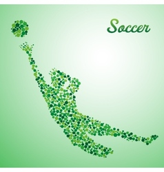 Abstract soccer goalkeeper vector image
