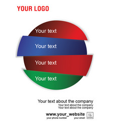 Advertising layout for the company in four parts vector