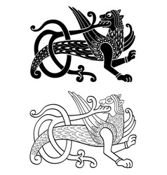 Ancient slavic symbol simargl or chernihiv beast vector