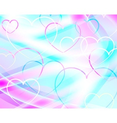 Background with hearts abstract vector