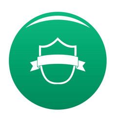 badge modern icon green vector image