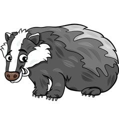 badger animal cartoon vector image