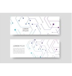 banner design in geometrical hexagon figures vector image