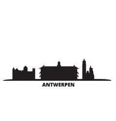 Belgium antwerpen city skyline isolated vector