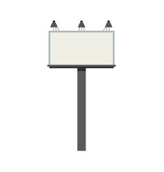 big blank city billboard with lamps and empty vector image