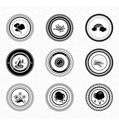 Black retro labels and badges nature vector image