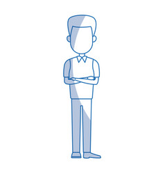 business man cartoon character male professional vector image