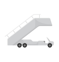 Cabriolet truck with a passenger ramp vector