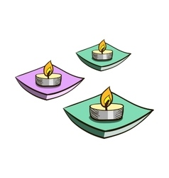 CandlesIsolated vector image