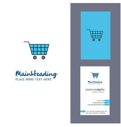 cart creative logo and business card vertical vector image