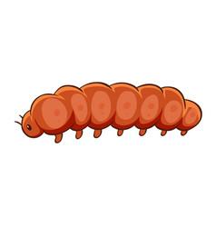 Caterpillar in orange color vector