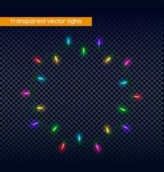 Christmas lights on transparent background vector