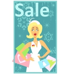 Christmas shopping design vector image
