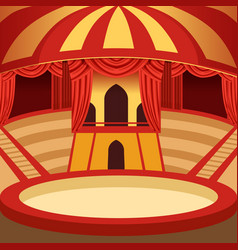 circus arena cartoon design classic stage vector image