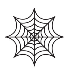 cobweb icon flat style isolated on white vector image