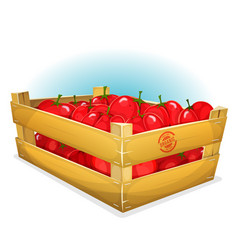 Crate with tomatoes vector