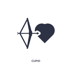 Cupid icon on white background simple element vector