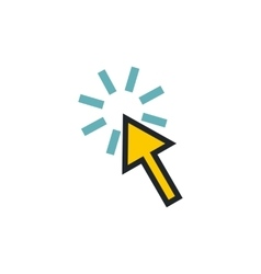 Cursor arrow is pointing icon flat style vector image