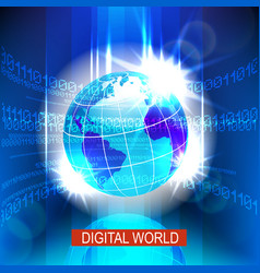 digital global world vector image