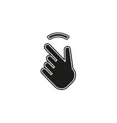 double tap finger - pointer finger icon vector image