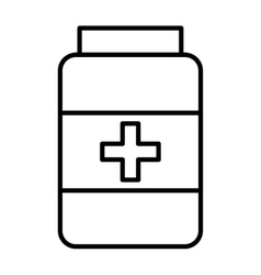 drugs bottle isolated icon design vector image