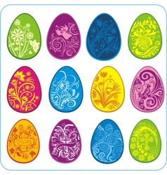 Eggs Easter design - set vector image