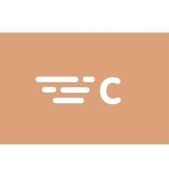 Fast line letter C logo monogram vector
