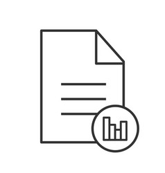 file statistics linear icon vector image
