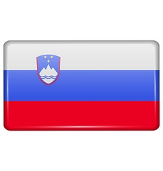 Flags Slovenia in the form of a magnet on vector