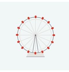 Flat ferris wheel vector