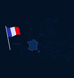 france on europe map high quality map europe vector image