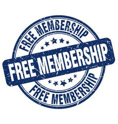 Free membership blue grunge stamp vector