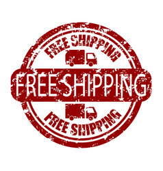 free shipping stamp rubber for delivery service vector image