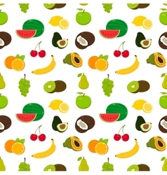 Fruits seamless pattern Food background vector