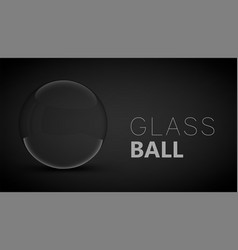 Glass ball on dark background vector