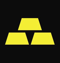 gold bullion icon vector image