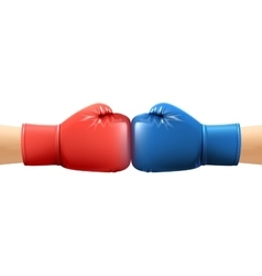 Hands In Boxing Gloves vector image