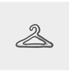 Hanger sketch icon vector image