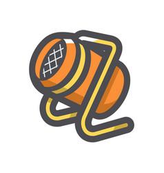 Heat gun equipment icon cartoon vector