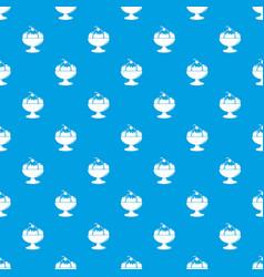 ice cream pattern seamless blue vector image