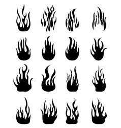 Icons flames vector