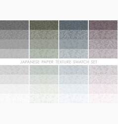Japanese paper swatch set vector