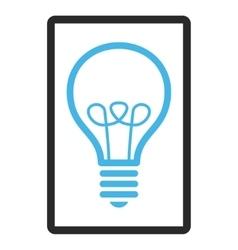 Lamp Bulb Framed Icon vector