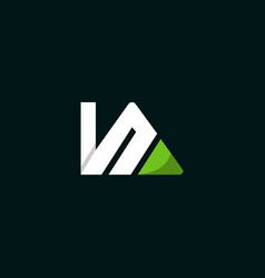letter ka abstract creative business logo vector image