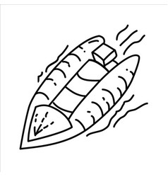 lifeboat icon doodle hand drawn or outline icon vector image