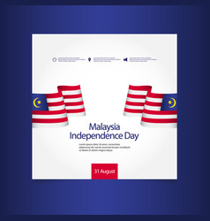 Malaysia independence day celebration template vector