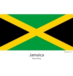 National flag of Jamaica with correct proportions vector image